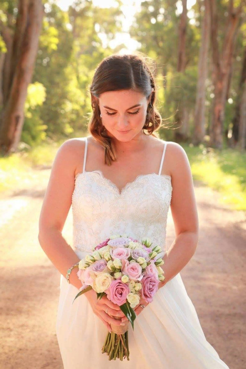 Beaded wedding gown perth