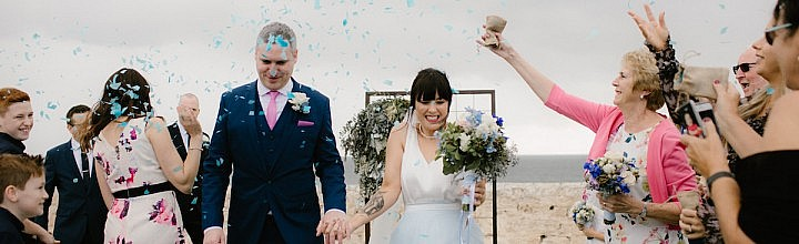 Lorraine's Blue Wedding Dress Perth