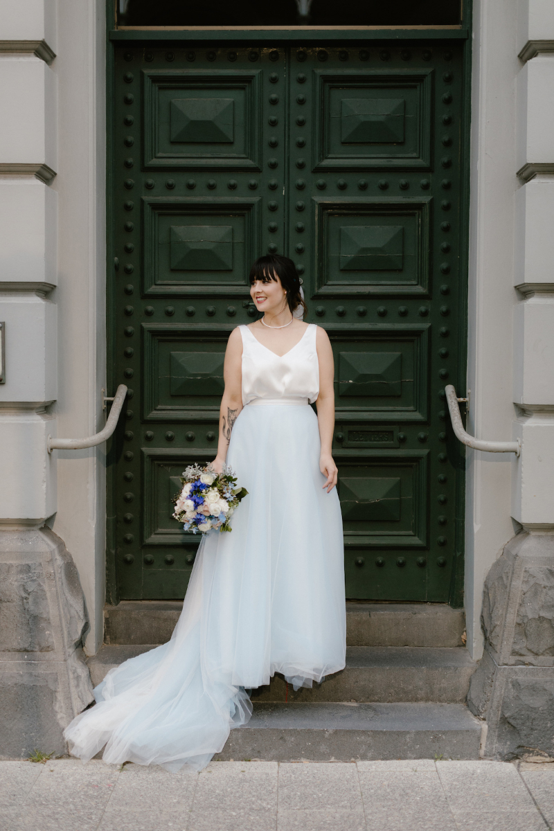 Elvi Design Blue Wedding Dress-567