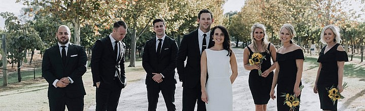 Tanika's Classic Crepe Wedding Dress Perth